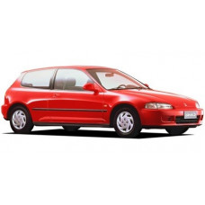Съемная силиконовая тонировка Honda Civic V (1992 - 1995)